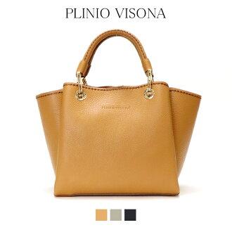 PLINIO VISONA puriniovisonaitariaitariabaggu本皮革牛皮shorudabaggutotobakku 2way高级感正规的物品