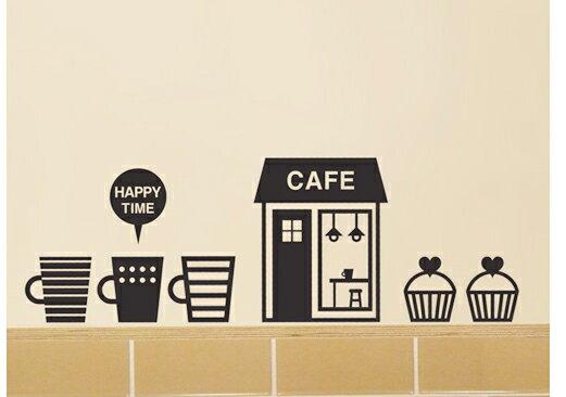 ウォールステッカー 北欧 壁紙  カフェ コーヒータイム coffee time  人気 壁デコ雑貨 アクセント ホームデコレーション おしゃれ インテリア モノトーン