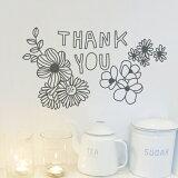 【2014新商品】ウォールステッカー【THANKYOU】ありがとう【RCP】転写式サンキュー