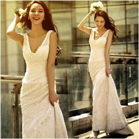 ドレス 二次会 花嫁 ウェディングドレス 格安 エンパイア ウエディングドレス ロング マキシ ドレス ロング ドレス ロング 結婚式 二次会