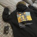韓国ファッション トムとジェリー プリント パーカー ホワイト 白 ブラック 黒 バックプリント インスタ風 ユニセックス メンズ レディース MサイズからXLサイズ 送料無料 送料込み