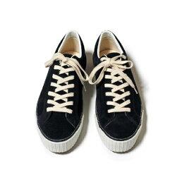WAREHOUSE & CO. ウエアハウス スニーカー ブラック 黒 Lot 3400 SUEDE SNEAKER 靴 ローカット スウェード 古着コーデにも 送料込み価格 送料無料