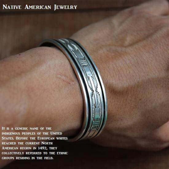 バングル Native American Jewelry シルバー925 ネイティブ アメリカンジュエリー メンズ レディース ユニセックスアイテム プレゼントなどにも