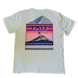 セール go slow caravan Tシャツ 半袖 カラー ナチュラル メンズ レディース ユニセックス RECORD TEE 音楽好きに MサイズからXLサイズまで ゴースローキャラバン