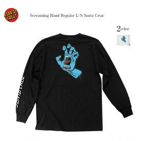 SANTA CRUZ 長袖 ロンT 袖ロゴ ブラック ホワイト サンタクルーズ screaminghand regular メンズ レディース