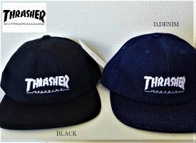 セール THRASHER ロゴキャップ ブラック デニム スラッシャー 2カラー 18THC32 スラッシャー BLACK DENIM2カラー メンズ レディース