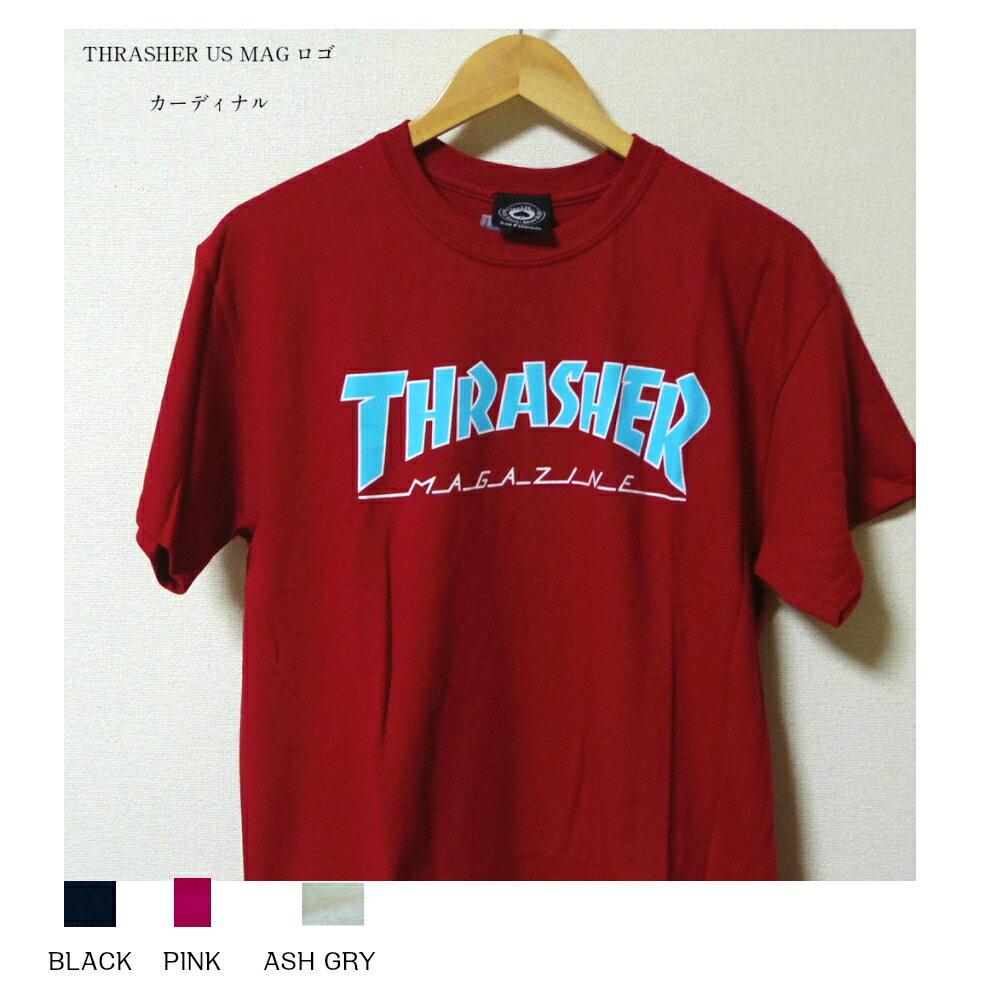 セール THRASHER MAGロゴ Tシャツ ブラック カーディナル ピンク アッシュグレー 4カラー メンズ レディース