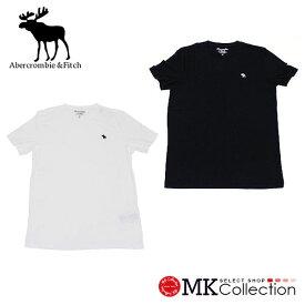 アバクロ Tシャツ メンズ Abercrombie & Fitch クルーネック アバクロンビー&フィッチ ブラック ホワイト 無地 【送料無料♪】【あす楽】