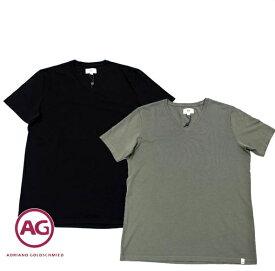 数量限り! エージー Tシャツ メンズ AG Vネック ブラック/カーキ Sサイズ 7632 【送料無料】