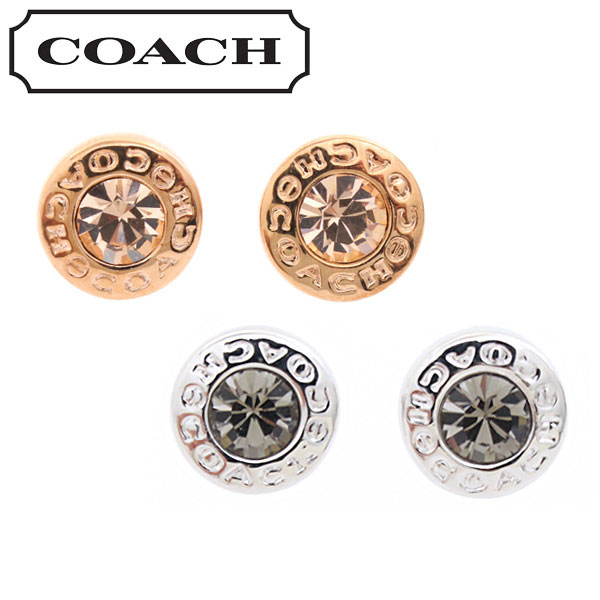 コーチ ピアス アクセサリー COACH OPEN CIRCLE STONE STRAND EARRINGS F54516
