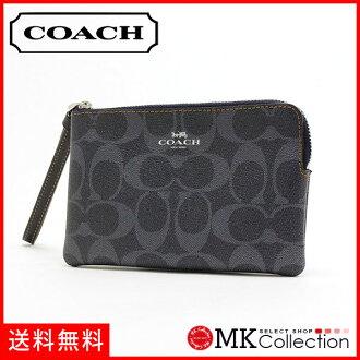 教練門女士COACH Wallet粗斜紋布F57996 SV/DE