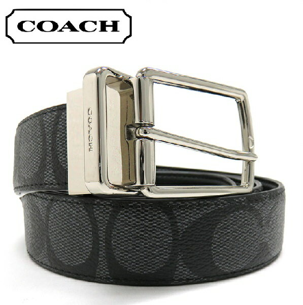 コーチ ベルト メンズ COACH リバーシブル ベルト チャコール/ブラック チャコール/ブラック F64825 CQ/BK 【当店全品送料無料♪】