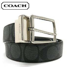 コーチ ベルト メンズ COACH リバーシブル BELT チャコール/ブラック チャコール/ブラック F64825 CQ/BK 【送料無料♪】【あす楽】