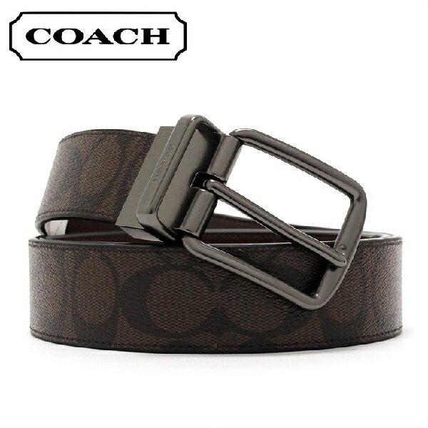 コーチ ベルト メンズ COACH ファッション マホガニー×ブラウン F64839 MA/BR 【当店全品送料無料♪】
