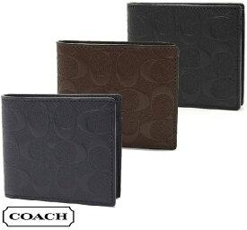 ef949e5c8e5d コーチ 二つ折り財布 メンズ レディース COACH Wallet シグネチャー ウォレット F75363 【送料無料♪】