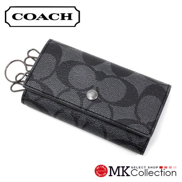 コーチ キーケース メンズ COACH key case チャコール×ブラック F26104 CQ/BK 【当店全品送料無料♪】【あす楽】