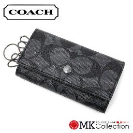 325093cc5b03 コーチ キーケース メンズ COACH key case チャコール×ブラック F26104 CQ/BK 【送料