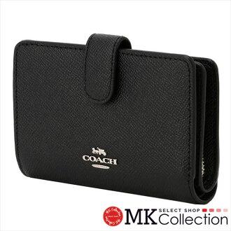 Coach folio wallet Lady's COACH Wallet black F11484 SV/BK