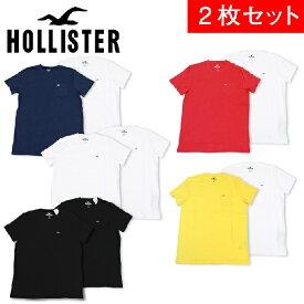 ホリスター Tシャツ メンズ 2枚セット HOLLISTER お買い得 アソート クルーネック ポケット ワンポイント 【送料無料♪】【あす楽】