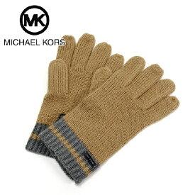 【冬物セール2月末までポイント最大20倍!】マイケルコース 手袋 メンズ MICHAEL KORS glove キャメル 33447MKO CAMEL 【送料無料♪】【あす楽】