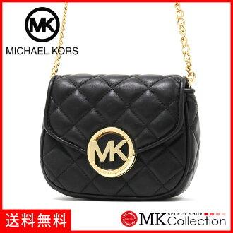 邁克 • 柯爾回婦女的 MICHAEL KORS 富爾頓被子小瓣斜挎包黑色 35S6GFQC1L-黑色