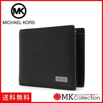 마이클 코스 반접기 지갑 맨즈 MICHAEL KORS Wallet 레더 BLACK 36 T6SANF3L BLACK