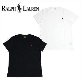 ラルフローレン Tシャツ メンズ 半袖 POLO RALPH LAUREN クルーネック ワンポイント ホワイト ブラック 【送料無料♪】【あす楽】