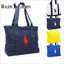 c425cfdbfa Polo Ralph Lauren tote bag Lady s men POLO RALPH LAUREN pony embroidery  canvas Thoth