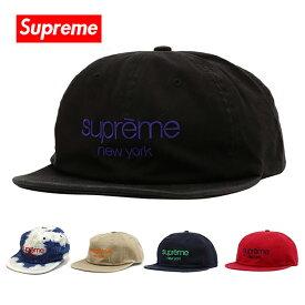 シュプリーム キャップ Supreme 帽子 SUPREME NEW YORK CAP ブラック レッド ネイビー SS16H56 【送料無料♪】