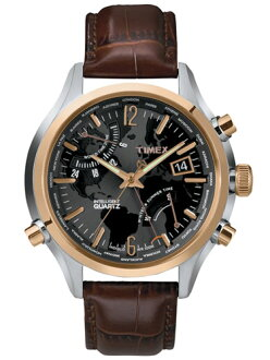 Timex watches mens domestic genuine intelligent quartz world time TIMEX watch T2N942 0601 02P03Sep16 Rakuten card Division