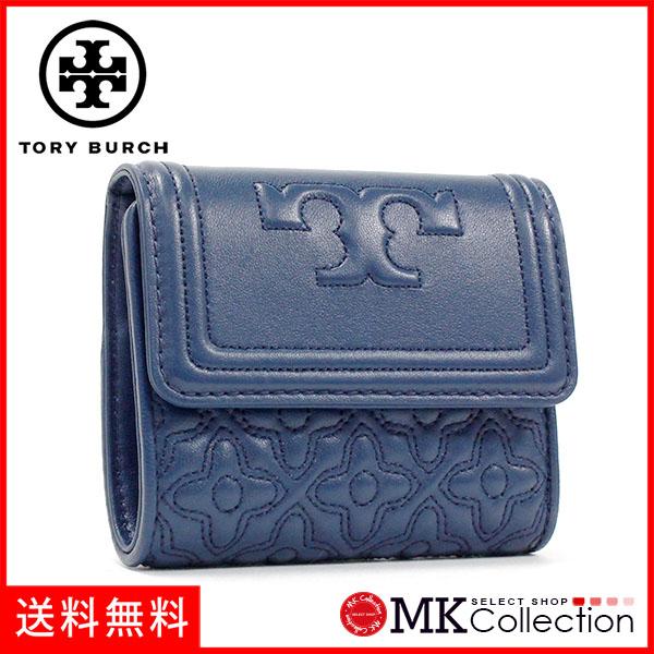トリーバーチ 三つ折り財布 レディース TORY BURCH Wallet HUDSON BAY 46184 417 【当店全品送料無料♪】