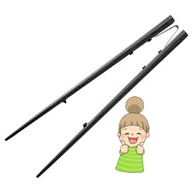 【楽々箸 クリップタイプ 樹脂製】 青芳 介護用箸