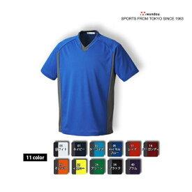 サッカーシャツ 半袖 (wundou) P-1910 無地 ゲーム・プラクティスユニフォーム S-XXLサイズ フットサル