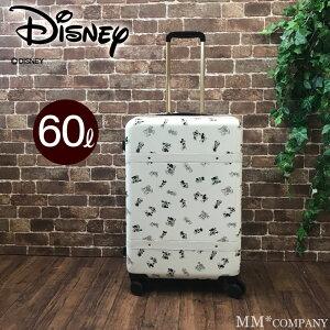 スーツケース LMサイズ 60L ディズニー キャリーバッグ ファスナータイプ キャリーケース ミッキーマウス DNY2246-57 大きめのMサイズ