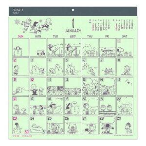 壁掛け スヌーピー カレンダー 2022年 コミックデザイン ピーナッツ APJ 書き込み 便利 予定表 令和4年 暦 マシュマロポップ
