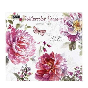 LANG 2022年 カレンダー 壁掛け Watercolor Seasons Lisa Audit ラング カントリー ボタニカル インテリア 令和4年暦 マシュマロポップ