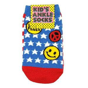 キッズアンクルソックス US FLAG アメリカ国旗かわいい子供用靴下 メール便可 ティーンズ雑貨 ティーンズ 雑貨 マシュマロポップ
