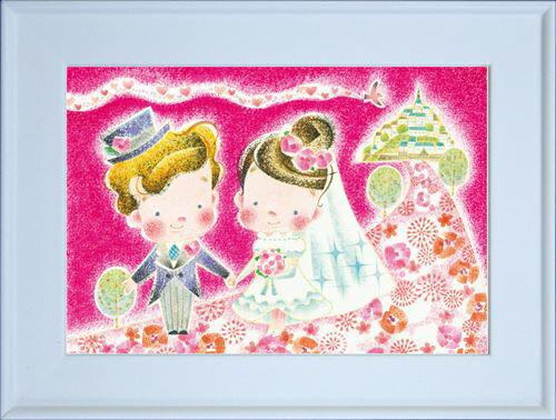 【取寄品】サライマサコMSP-03ポストカード額装フレーム付きARTイラストアート