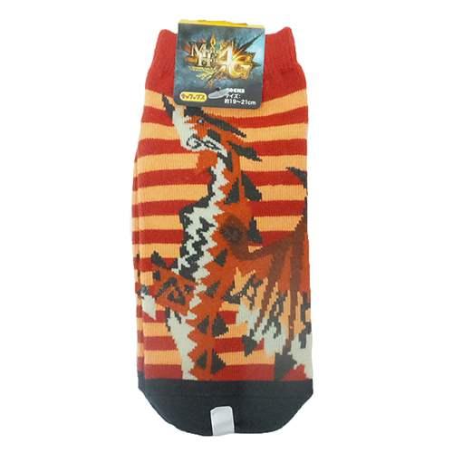 モンスターハンター 子供用靴下 ジュニアソックス リオレウスGY モンハン スモールプラネット 19〜21cm ゲーム ファンシー雑貨