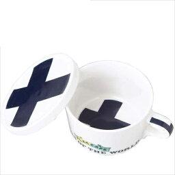 附帶附帶國旗設計蓋子的啤酒杯茶杯旗幟咖啡廳蓋子的啤酒杯茶杯芬蘭/FINLAND打扮設計餐具陶器製造餐具MADE IN JAPAN/日本製造生日禮物雜貨