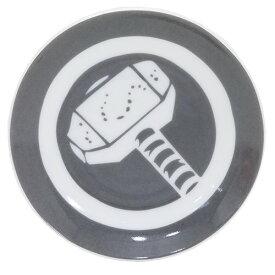 マイティソー 小皿 ミニプレート マーベル サンアート 直径10.5cm アメコミ キャラクターグッズ MARVELCorner