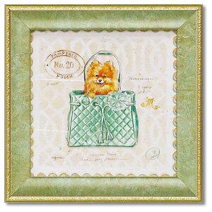 ミニ ゲル アートフレーム ポメラニアンパピーピース アートポスター 動物 チャド バレット 犬 額付き ポスター インテリアグッズ 取寄品 マシュマロポップ