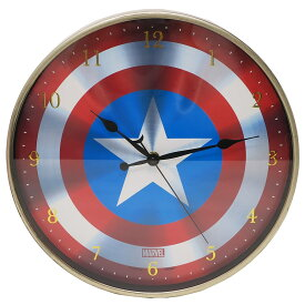 インデックス ウォール クロック キャプテンアメリカ 壁掛け 時計 マーベル ティーズファクトリー 直径30cm ギフト 雑貨 ティーンズ ジュニア マシュマロポップ