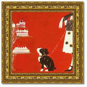 アートフレーム ショー M ドミンゲス 動物画 いぬ 雑貨 可愛い 額付き ポスター インテリアグッズ 取寄品 マシュマロポップ