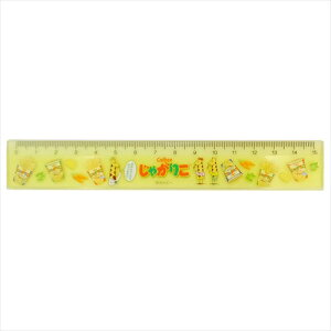 スリム15cm 定規 じゃがりこ ものさし おやつマーケット サカモト 小学生 中学生 文具 おもしろ 雑貨 グッズ メール便可 マシュマロポップ