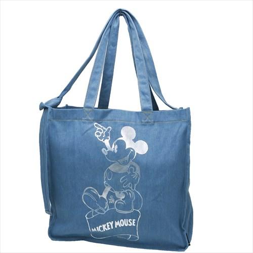 【TALL トール デニム2wayショルダートート】 Otona Disney ミッキーマウス トートバッグ ディズニー ROOTOTE 41×39×15cm 手提げかばん ティーンズ雑貨通販【あす楽】マシュマロポップ