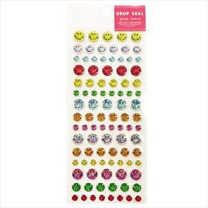 ドロップシール SC-329 スマイリーフェイス シールシート Smiley Face アクティブコーポレーション 手帳デコ ティーンズ ジュニア かわいい グッズ メール便可 マシュマロポップ