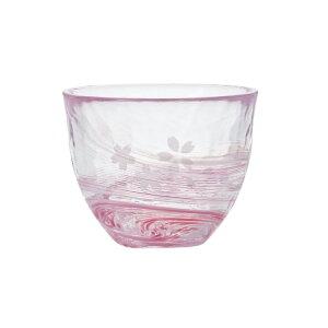 桜流し 冷茶 津軽びいどろ ガラスコップ アデリア 190ml ギフト プレゼント 石塚硝子食器 取寄品 マシュマロポップ