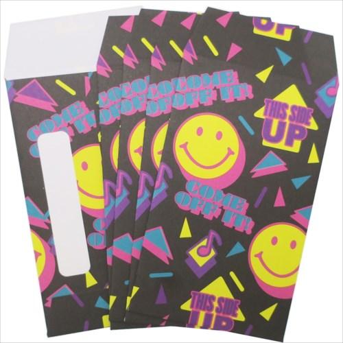 【ミニ封筒 5枚セット】 SMILE 90'S ポチ袋 オクタニコーポレーション おとしだま袋 金封 おもしろ雑貨グッズ通販【メール便可】【あす楽】マシュマロポップ