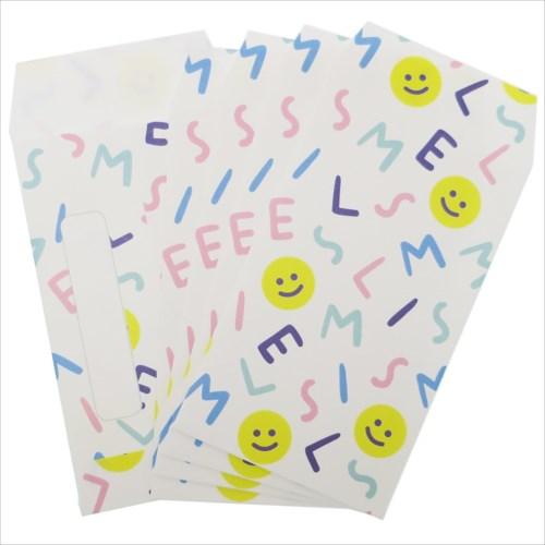 【ミニ封筒 5枚セット】 SMILE ALPHABET ポチ袋 オクタニコーポレーション おとしだま袋 金封 おもしろ雑貨グッズ通販【メール便可】【あす楽】マシュマロポップ